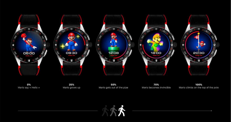Distintas fases de ejercicio en el TAG Heuer Connected x Super Mario