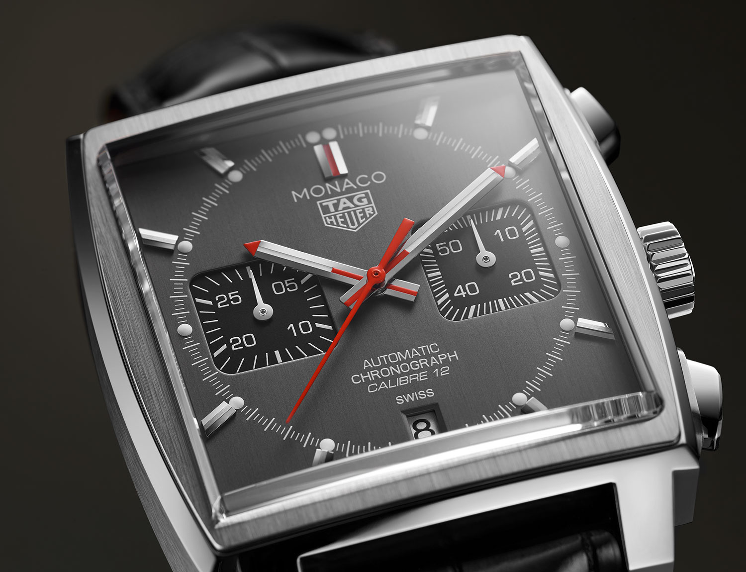 Esfera del Tag Heuer Monaco Calibre 12 Final Edition