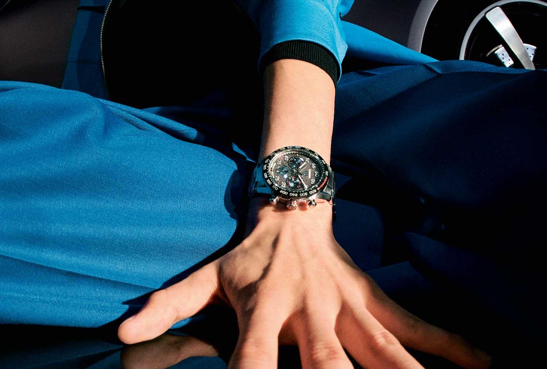 El TAG Heuer Carrera Porsche Chronograph Special Edition , en la muñeca
