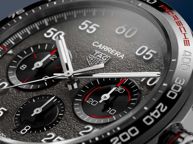 Detalle de la esfera del TAG Heuer Carrera Porsche Chronograph Special Edition