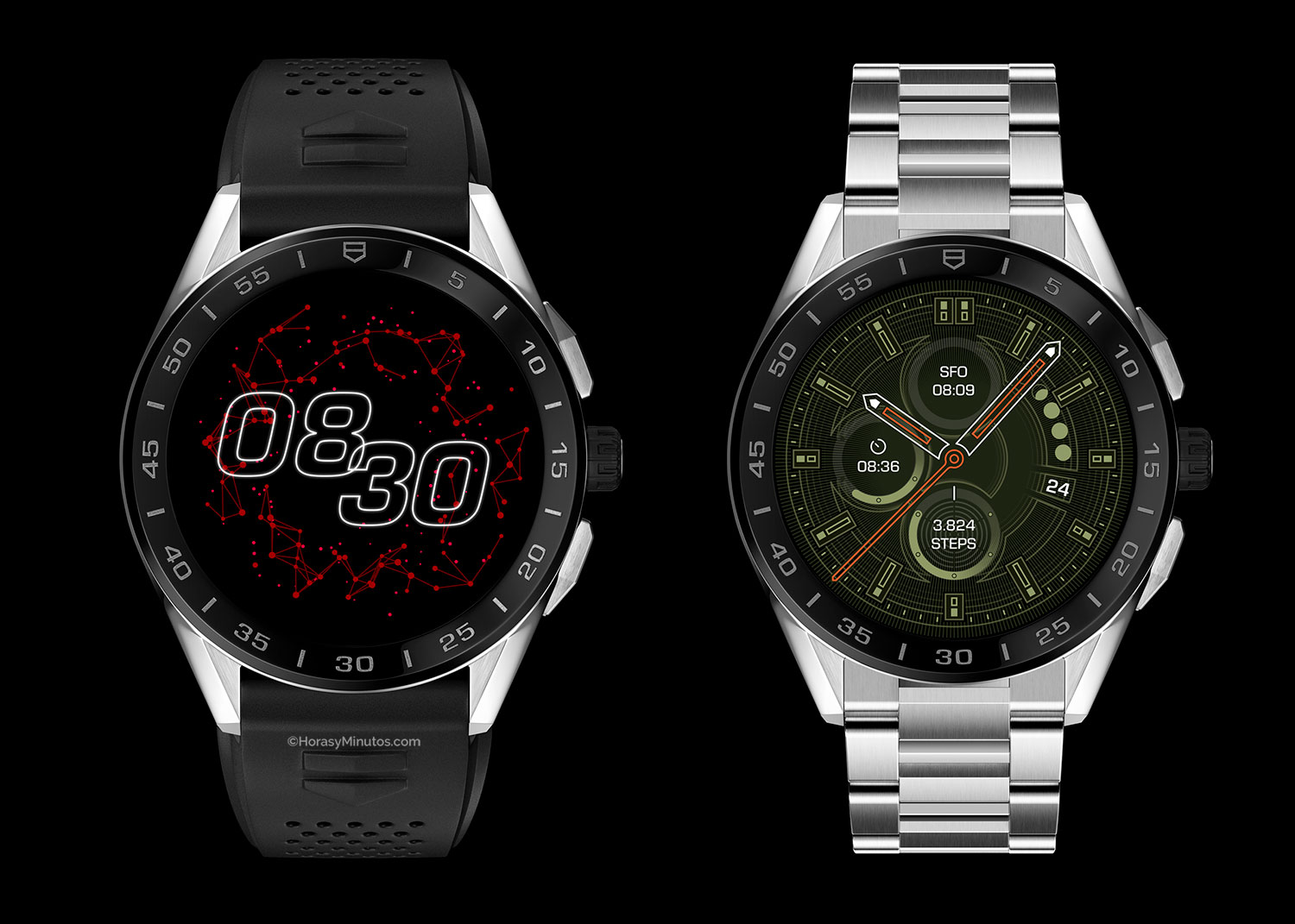 Dos versiones del TAG Heuer Connected 2020