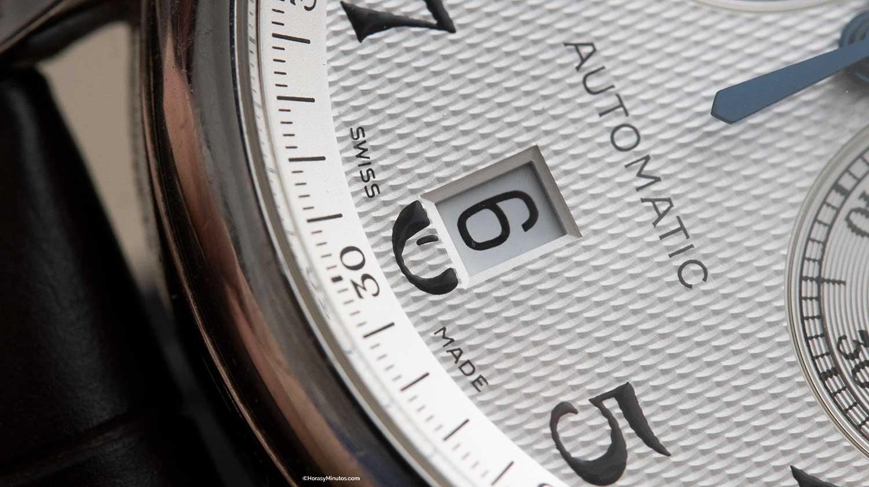 Detalle de la fecha del Longines Master Collection Chronógraph