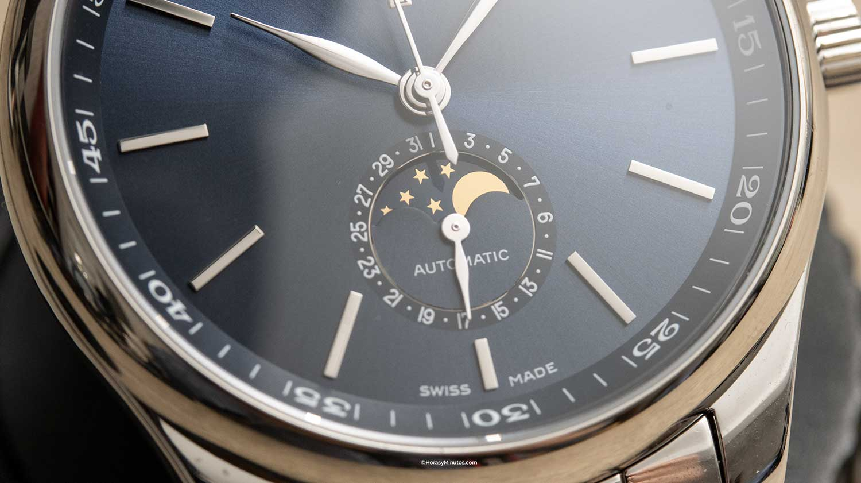Detalle de la esfera del Longines Master Collection Automatic Date
