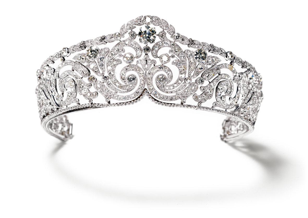 Tiara Rinceaux Cartier Paris, 1910 Elizabeth, Reina de los Belgas