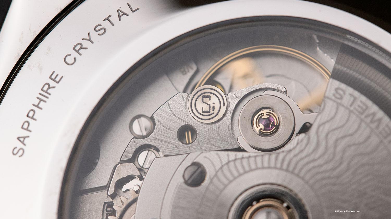 Detalle del calibre Powermatic 80 Silicium