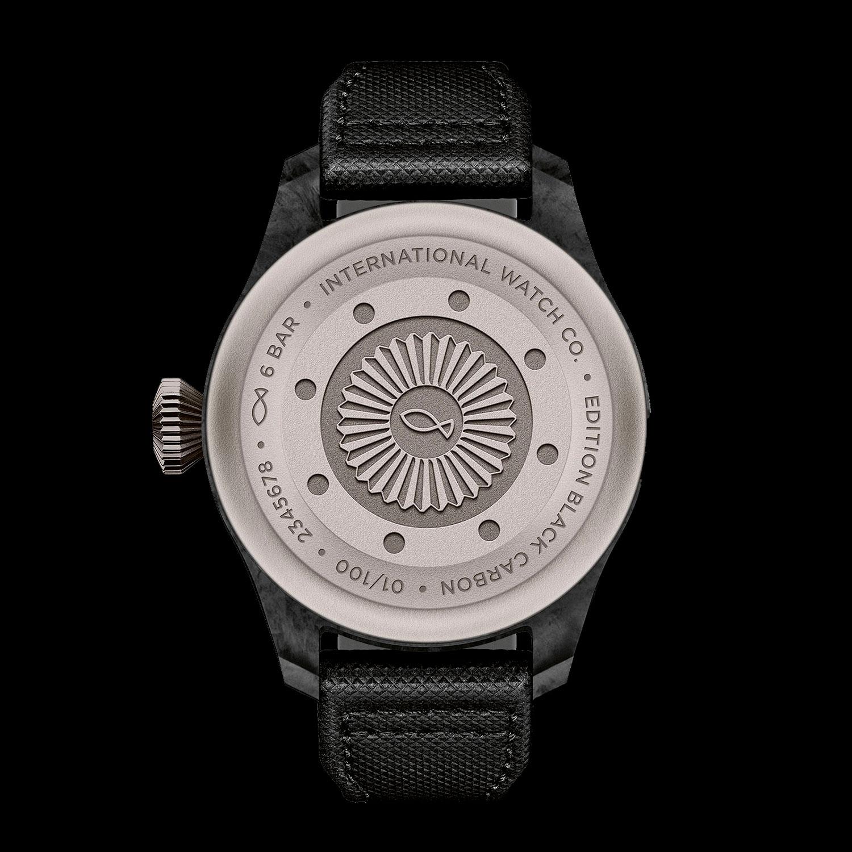 Trasera del IWC Big Pilot's Watch Edition Black Carbon