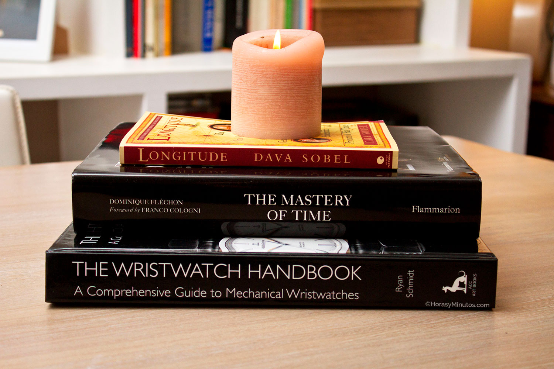 Tres libros sobre relojería