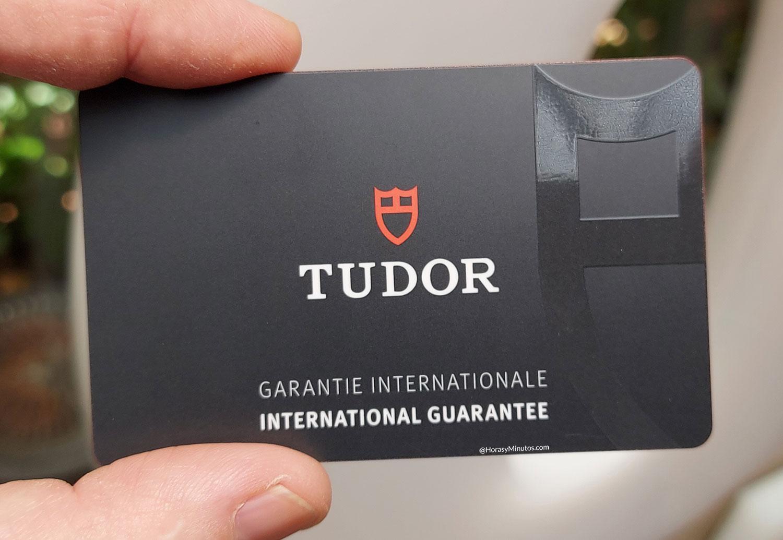 Tarjeta de garantía del Tudor Black Bay Ceramic