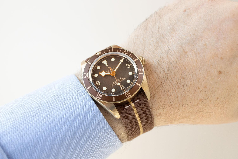 Tudor Black Bay Fifty-Eight Bronze Boutique Edition con correa de tela