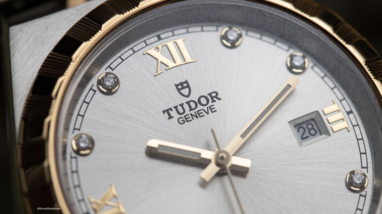 Detalle del Tudor Royal 28 mm