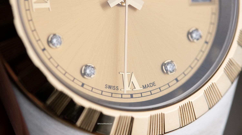 Detalle del Tudor Royal de 34 mm