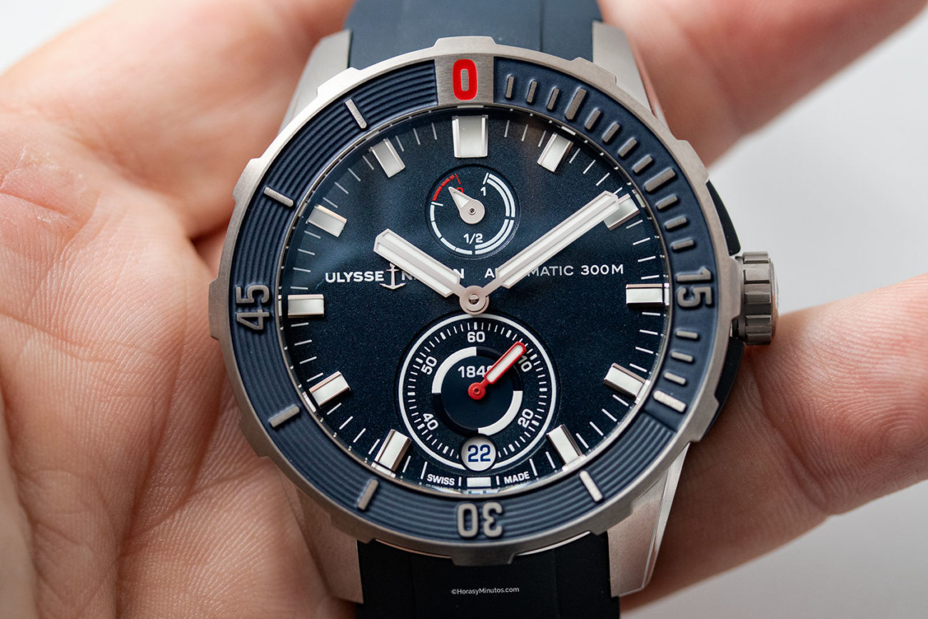 Esfera del Ulysse Nardin Diver Chronometer