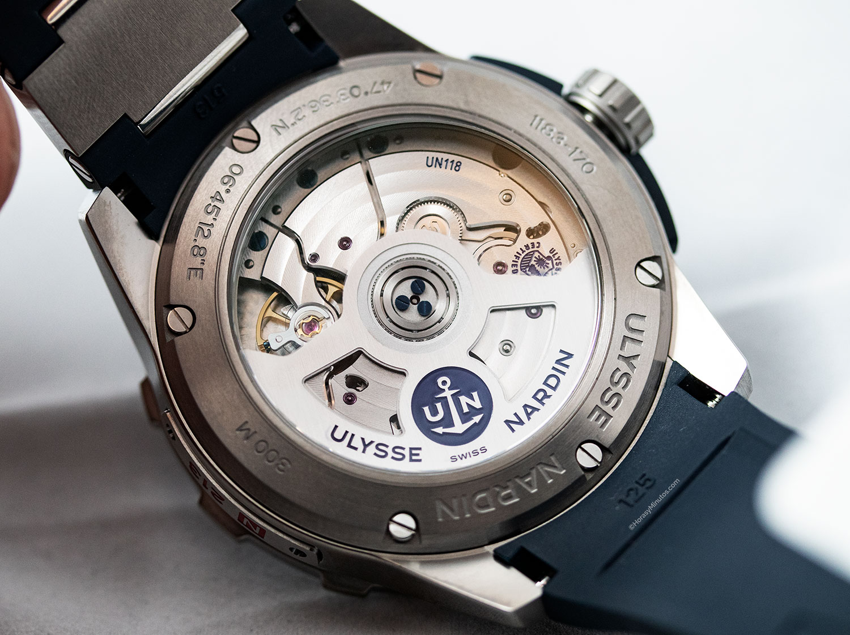 Calibre UN118 del Ulysse Nardin Diver Chronometer