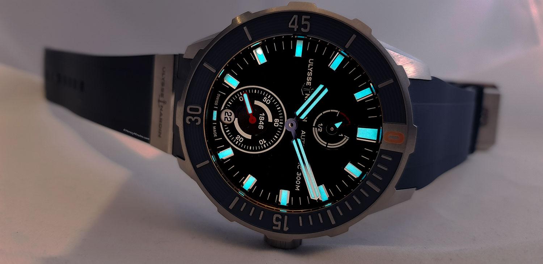 Super-LumiNova del Ulysse Nardin Diver Chronometer