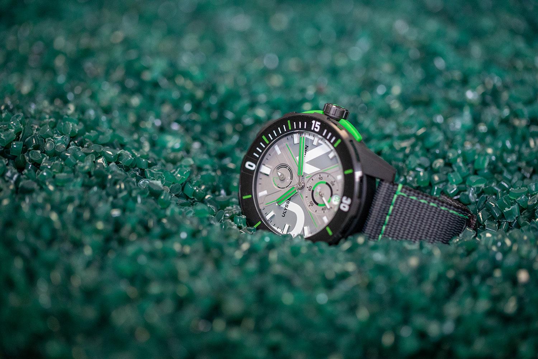 El material reciclado con el que se hace el Ulysse Nardin Diver Net