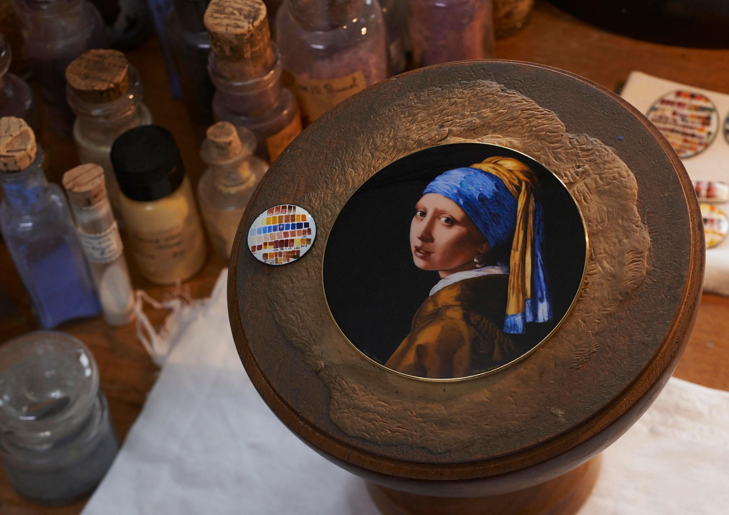 Proceso de pintura del Vacheron Constantin Les Cabinotiers Westminster Sonnerie – Tribute to Johannes Vermeer
