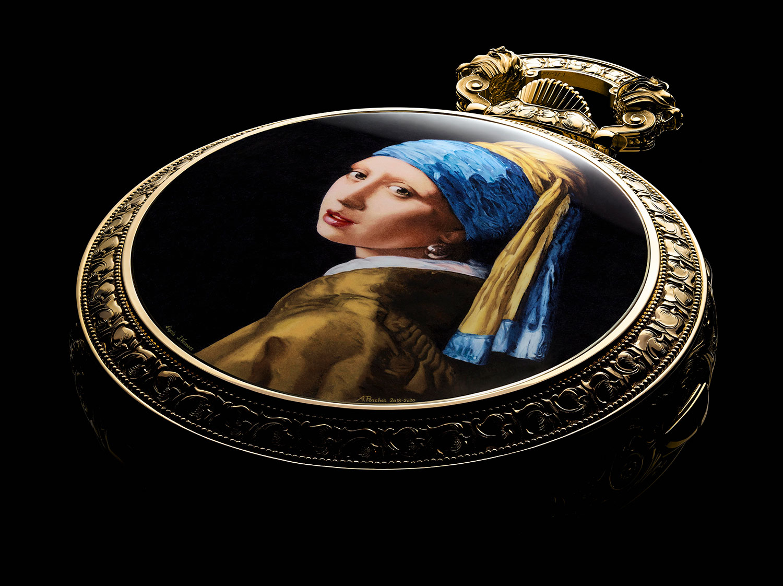 Trasera pintada del Vacheron Constantin Les Cabinotiers Westminster Sonnerie – Tribute to Johannes Vermeer