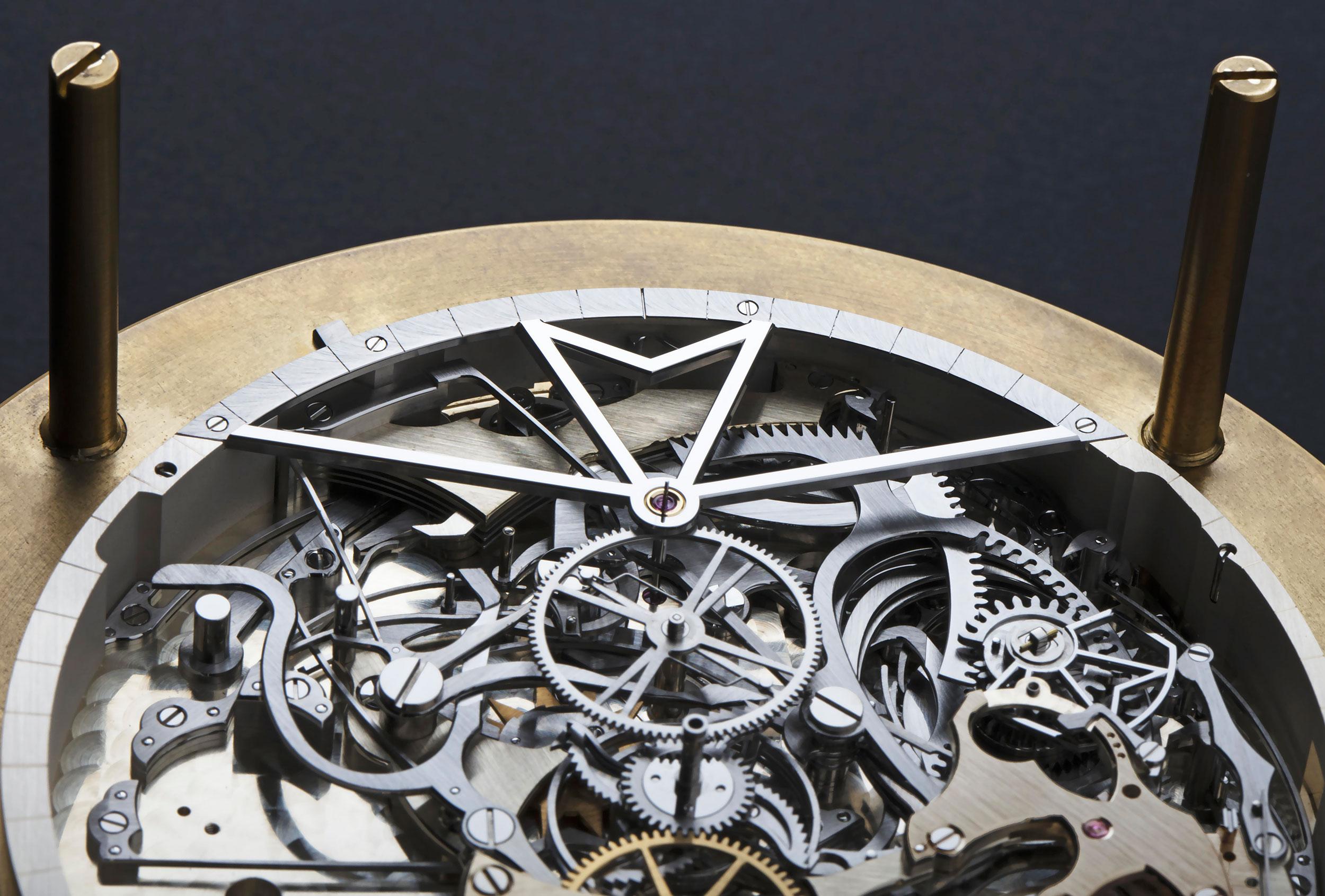 Detalle del mecanismo de sonería del calibre del Vacheron Constantin Les Cabinotiers Westminster Sonnerie – Tribute to Johannes Vermeer