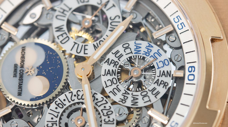 Subesfera de años bisiestos del acheron Constantin Overseas Perpetual Calendar Ultra Thin Skeleton