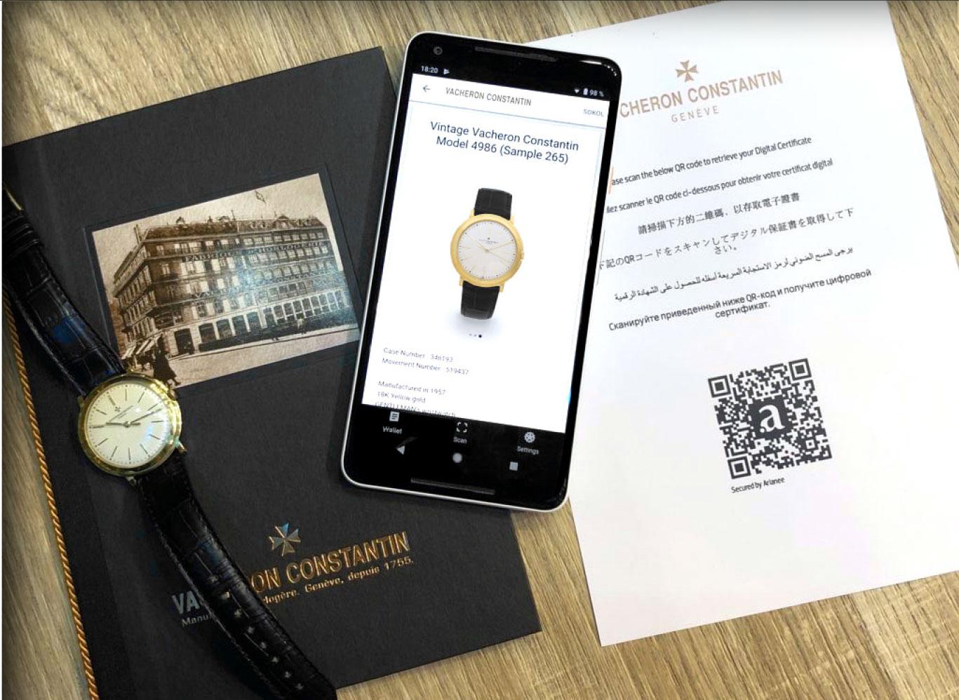 Vacheron Constantin usará blockchain