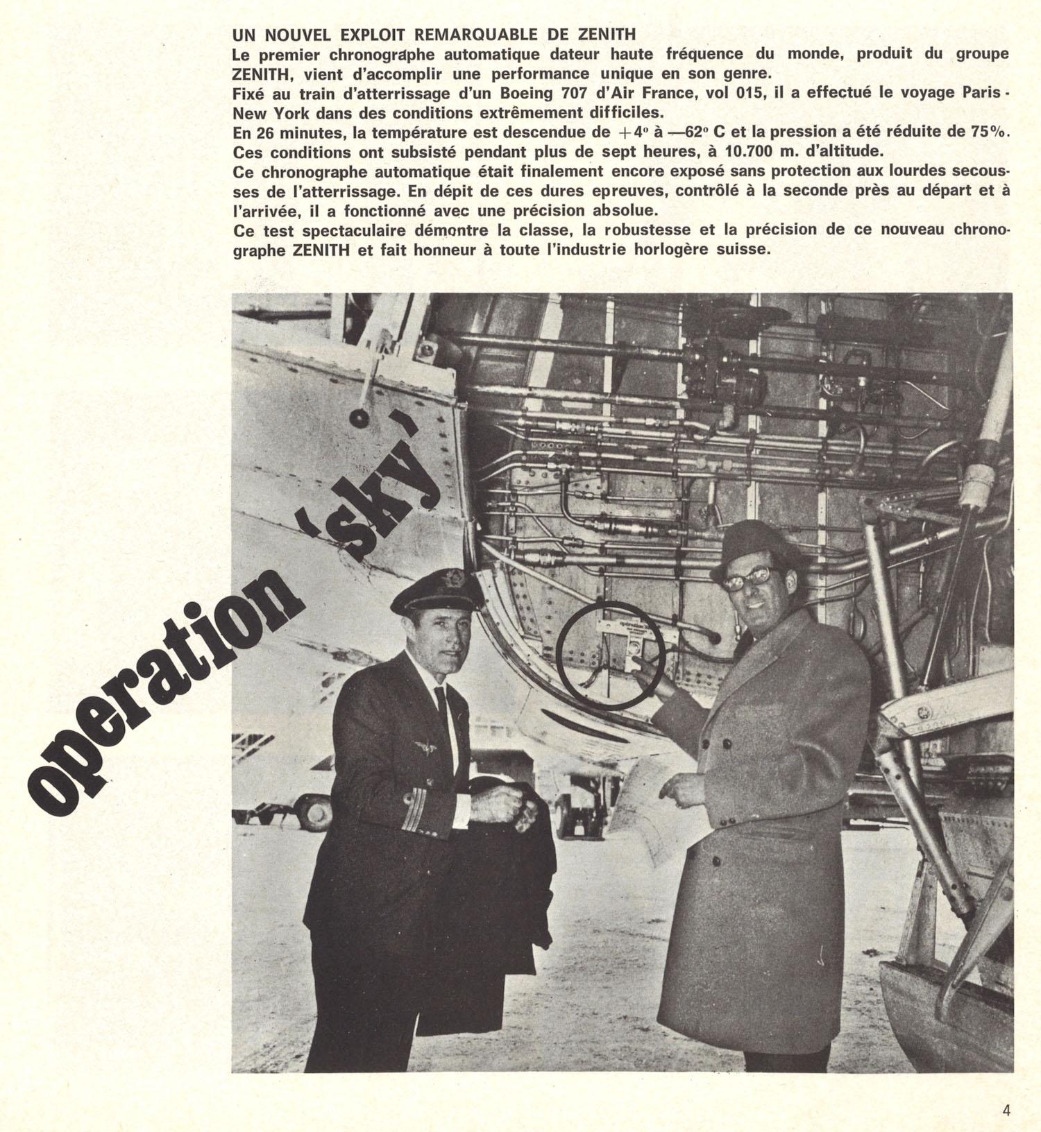 Zenith A385 en la Operación Sky