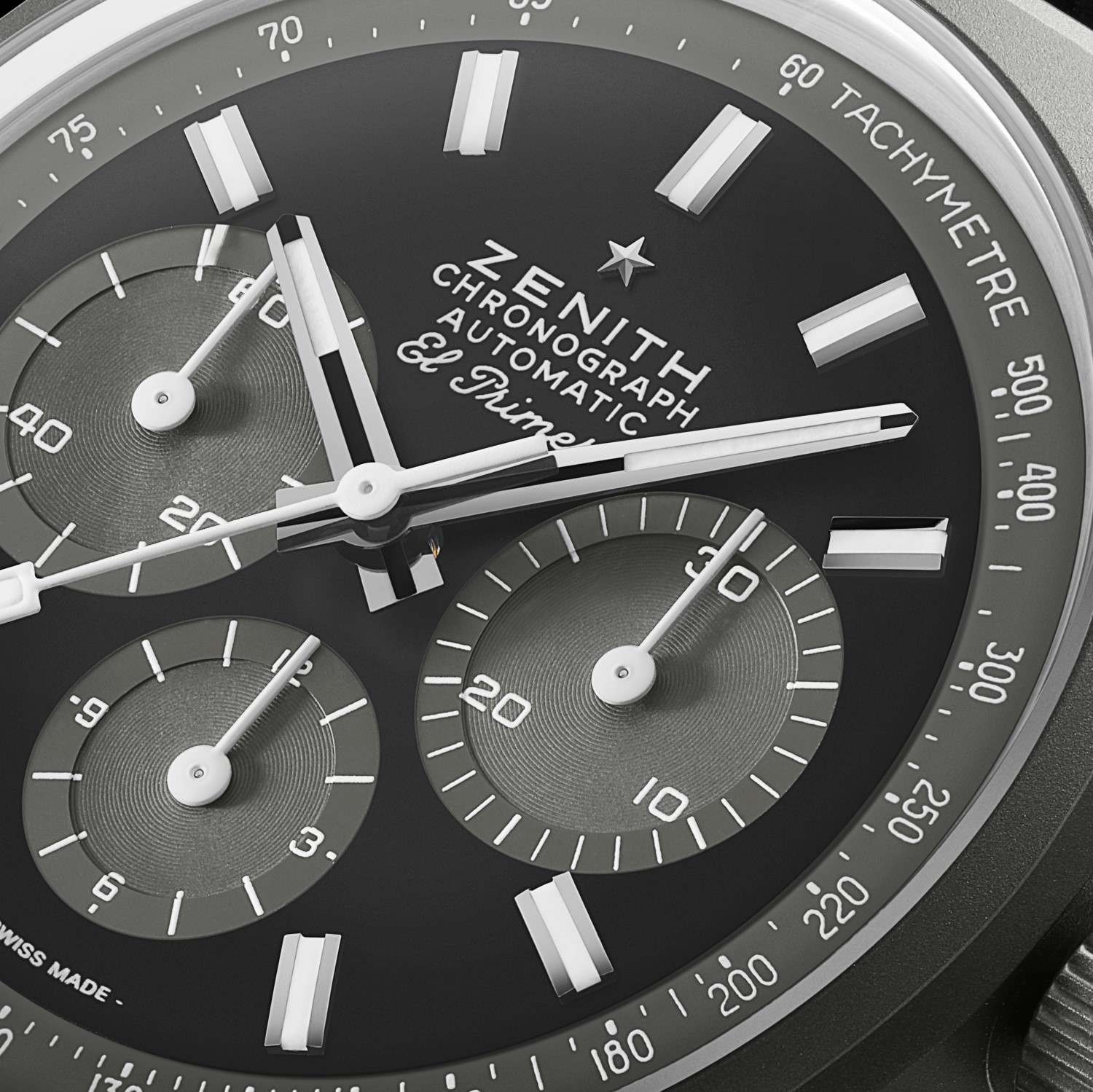 "Esfera del Zenith Chronomaster Revival ""Shadow"""