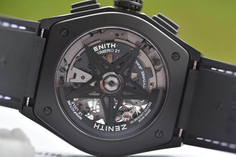 Calibre El Primero 9904 del Zenith Defy 21 Black & White Boutique Edition