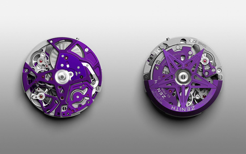 Calibre El Primero del Zenith Defy 21 Ultraviolet