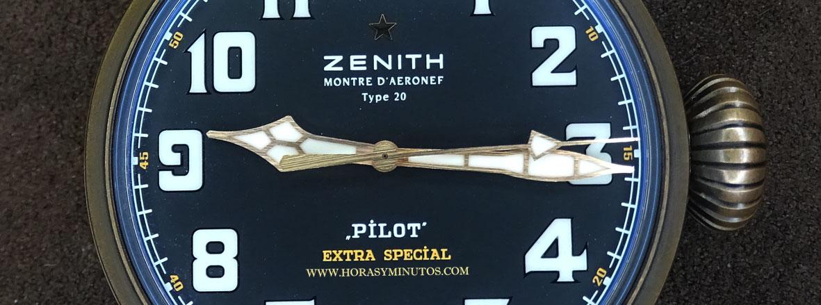 Zenith Pilot Type 20 Extra Special Bronze manecillas